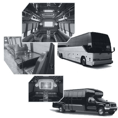 Party Bus rental and Limobus rental in Atlantic City, NJ