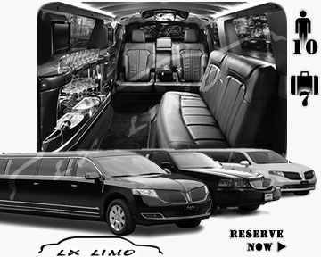 Stretch Limo airport shuttle in Atlantic City